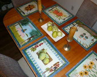 Classic Placemat Series - Set of Six Placemats - One of Each Pattern