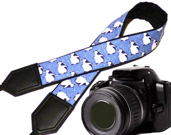 Penguins camera strap. DSLR, SLR Camera Strap. Camera accessories. Christmas gift by InTePro