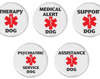 """Therapy Medical Alert Support Psychiatric Assistance Service Dog Symbol 3"""" Sew On Patch Disability Health (794)"""