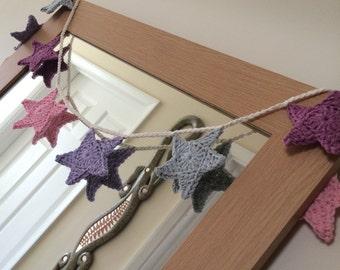 Pastel Crochet Star Bunting - Crochet Bunting