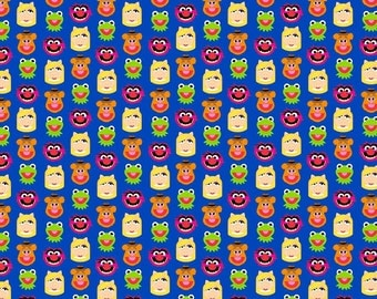 The Muppets Characters Emoji Cotton Fabric, Springs Creative