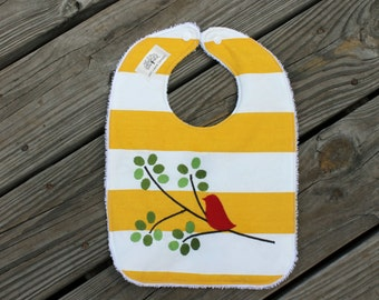 Infant/Toddler Bib- Embroidered bib and burp cloth, Bib and Burp cloth set