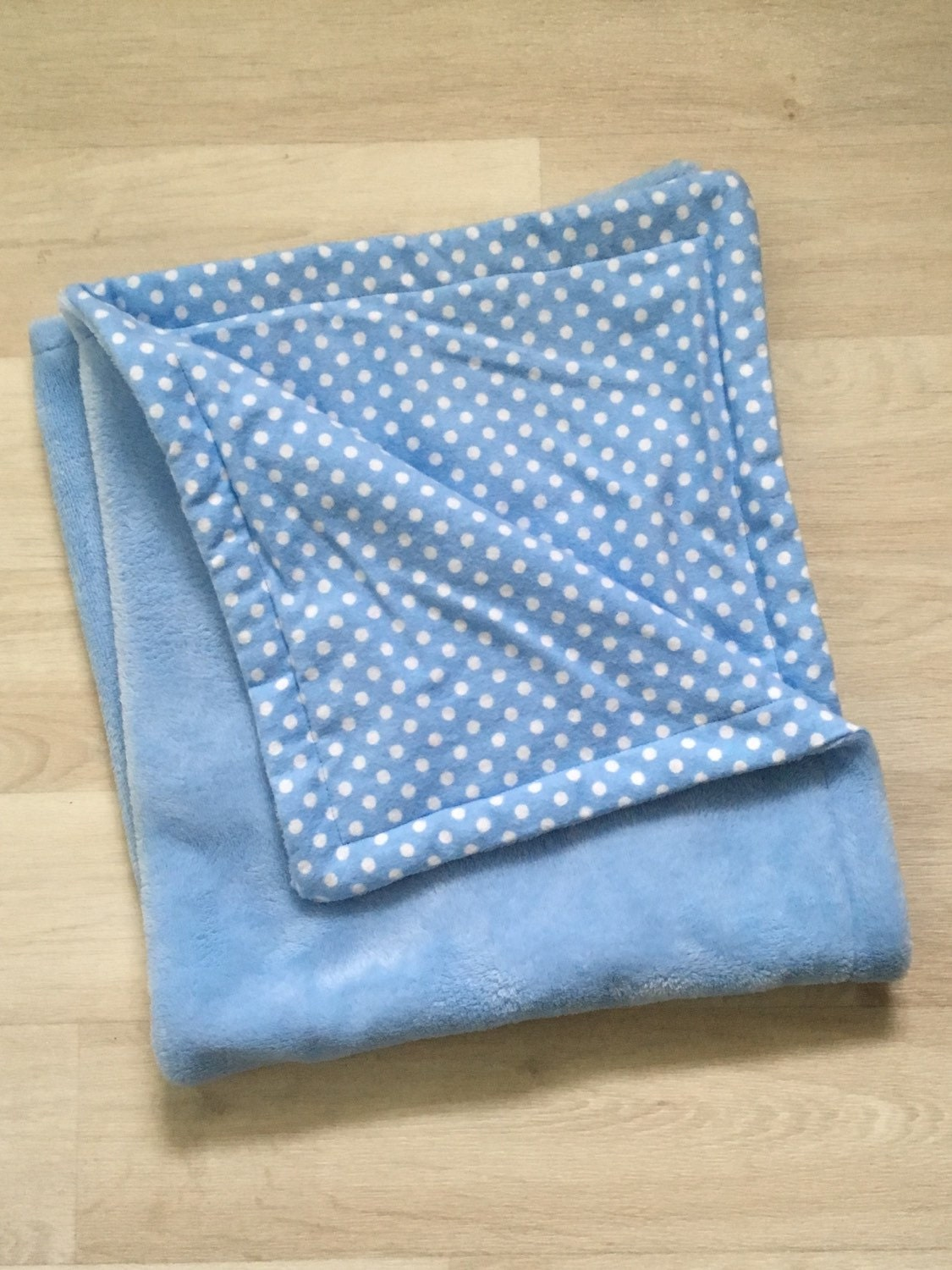Baby blanket with heavenly plush sky blue fleece and blue and for Celestial fleece fabric