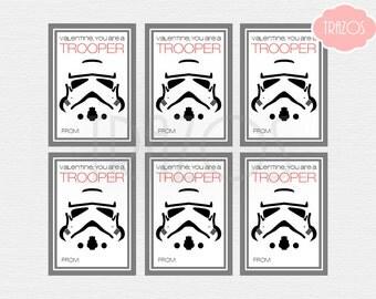 Star Wars Valentines - Storm Trooper Valentine Cards - Instant Download