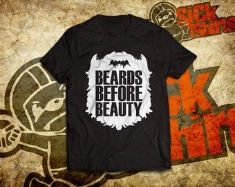 Beards Before Beauty T-Shirt For Beard Lovers