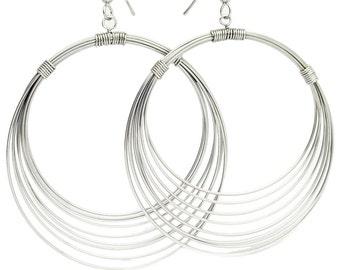 3.5 Inch Wire Hoop Earrings - MC101614X1AZ