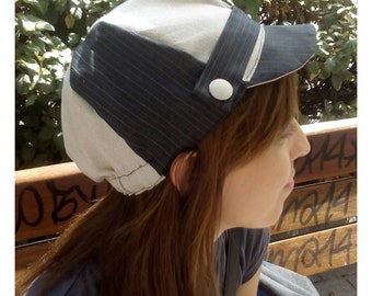 pinstripe cycling cap.