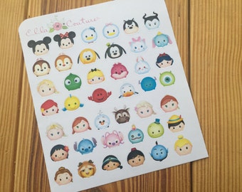 Tsum Tsum Inspired Planner Stickers by EllaCouturebyJessica