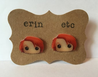 Handmade Plastic Fandom Earrings - Horror - Chucky