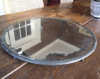 Antique Plateau Mirror Beveled Display 14""
