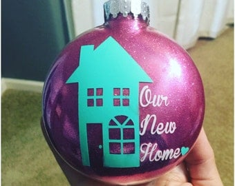 Large Personalized Our New Home Ornament // Our First Home Ornament