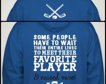 Hockey Mom/Dad/Granparent Hoodie Favorite Player Sports Fan Cheer Hoody