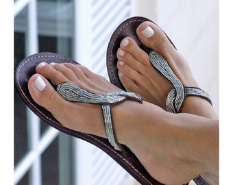 Aspiga White Snake Flat Sandal