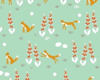 Organic Cotton Crib and Mini crib Sheets including Arms Reach, 4moms breeze Bloom baby playards etc Fox Foxglove Green mint woodland floral