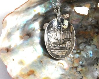 viking necklace,  explorer necklace, sailing necklace, vintage necklace, norwegian necklace