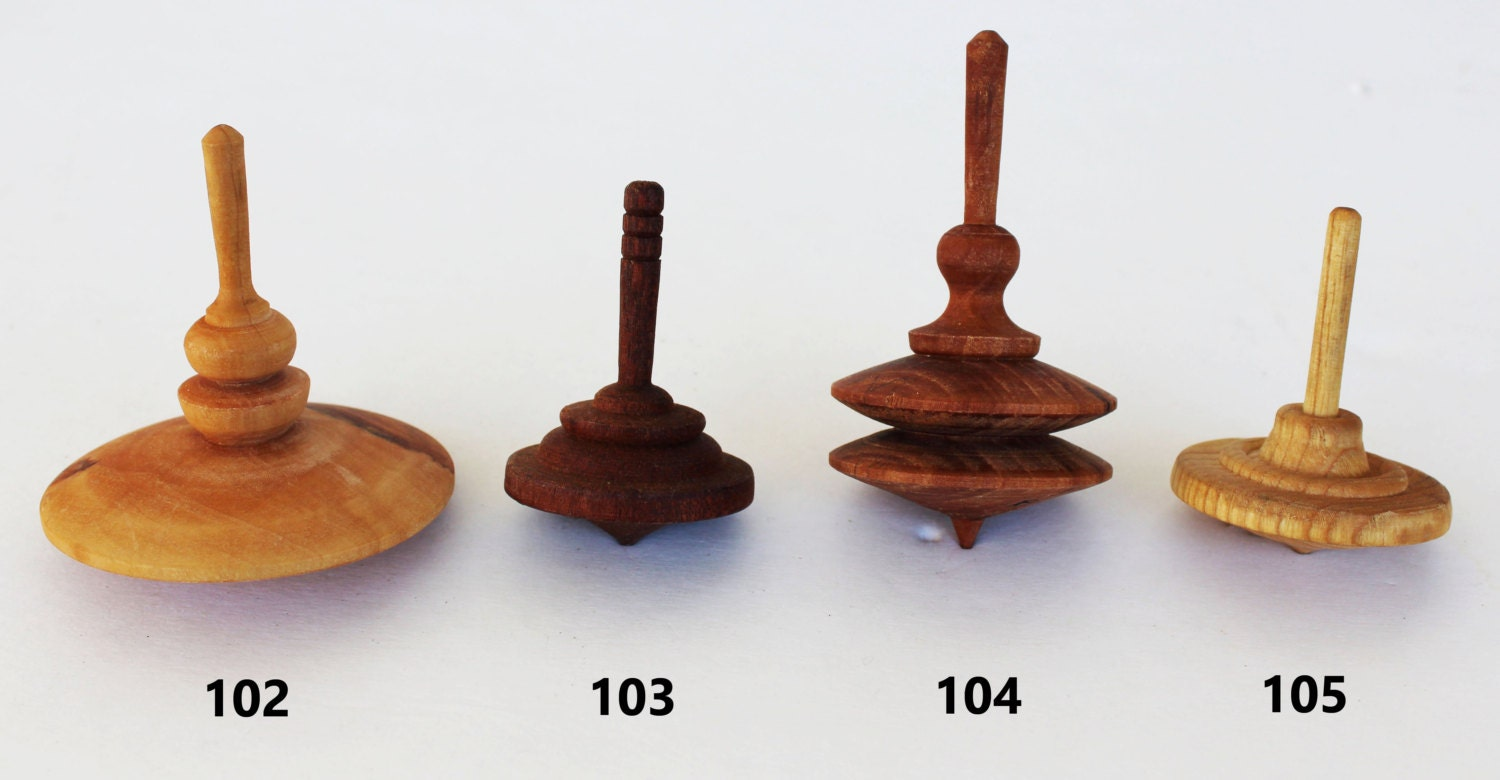 Hand Made Wooden Spinning top Toy by tanitka on Etsy