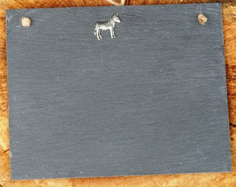 Donkey Design Slate Chalk Board Messages, Lists , Tally Chart, Reminders Farming Gift