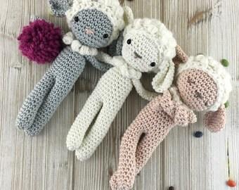 Sheep crochet- Amigurumi lamb - MADE to ORDER - crochet stuffed animal, sheep baby doll, baby gift, amigurumi sheep toy, sheep nursery decor