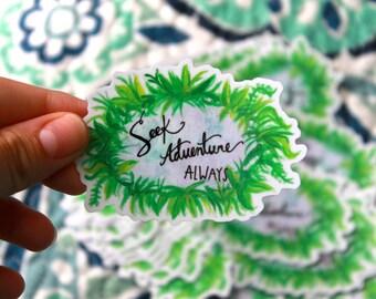 Seek Adventure Always Sticker