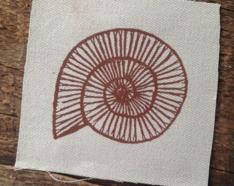 Ammonite fossil patch