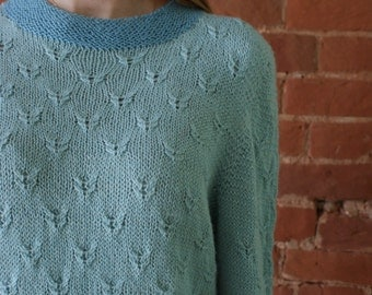 Hand knitted sweater, Pullover Alpaca