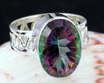 Mystic Ring, Mystic Stone Ring, Gemstone Ring, Designer Stone Ring, Fine Silver Ring, 925 Silver Ring, Mystic Jewellery, Unique Ring