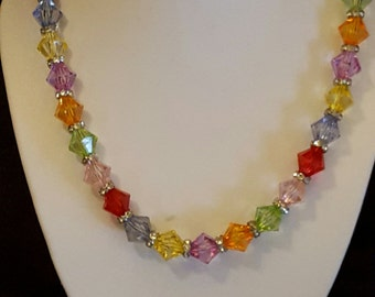Large Bicone Beaded Necklace