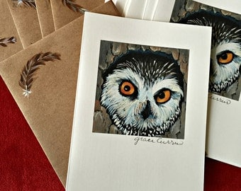 Owl Hand Painted Greeting Cards
