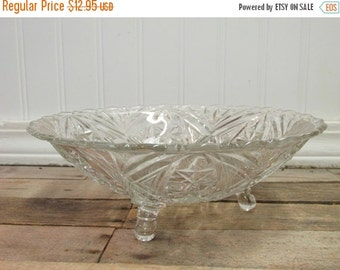 ON SALE NOW Vintage Three Foot Glass Bowl