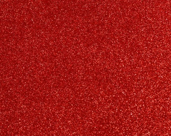 FINE Glitter Fabric. Red. 100cm x 130cm. JR09170