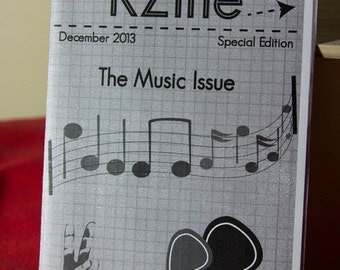 KZine, The Music Issue (Special Issue), Zine, Arts Zine, Music Zine