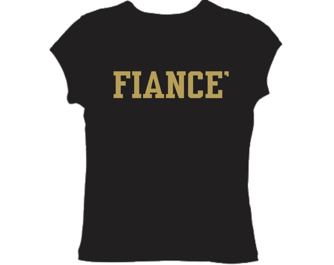 Fiance Fitted Long T Shirt - Just Engaged Shirt - Bride To Be Gift - Bridal Party Gifts