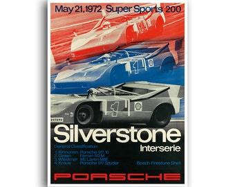 Race Car Art Auto Racing Motor Sports Poster (H383)