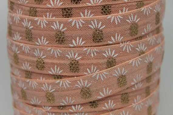 Basket Weaving Supplies Charleston Sc : Pineapple foil foe fold over elastic inch by the