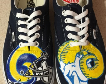 LA RAMS Adult Custom Vans Shoes
