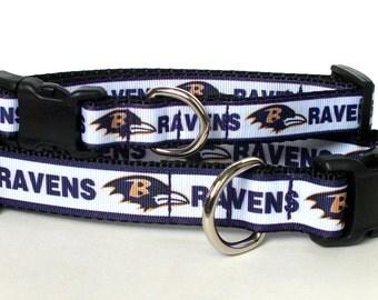 Baltimore Ravens Inspired Dog Collar