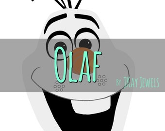 Frozen Olaf Silhouette SVG File For Die Cut Vinyl Machines and Crafts
