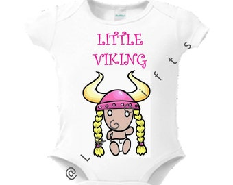 Viking girl gift-Viking clothes-Viking-Baby Shower Gift-Girly clothes bodysuit-Viking baby halloween-Cute baby clothes-Viking baby gift