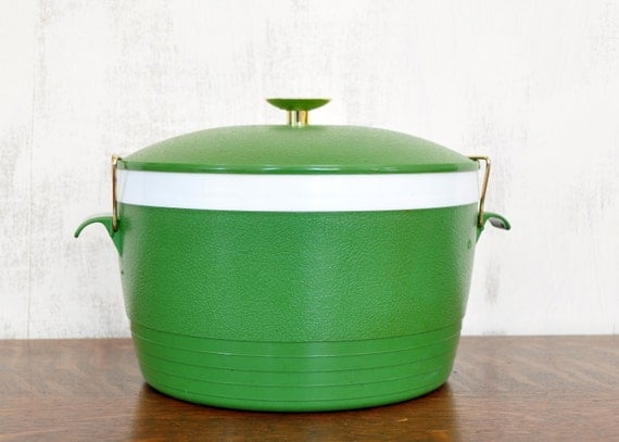 Vintage Sunfrost Ice Bucket Green Plastic Insulated Ice