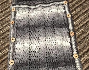 Crochet baby swaddle
