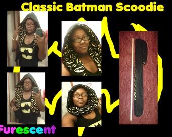 Classic BATMAN SDOODIE scarf hoodie