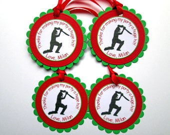 20 Personalized Cricket Gift Tags, Cricket Birthday, Cricket Tags, Cricket Party Decor, Cricket Favor Tags, Bag Tags, Thank You Tags, Favors