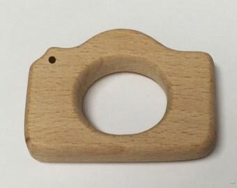 Wood Camera Teether