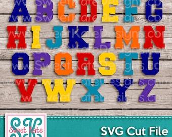 Varsity Letters SVG JPG PNG Sports {Scrapbook Die Cut Heat Transfer Vinyl Cut} Cricut svg Silhouette svg Instant Download Sweet Kate Designs