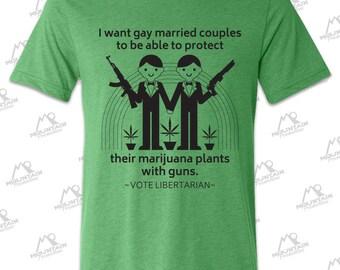 Vote Libertarian Green Tee Shirt