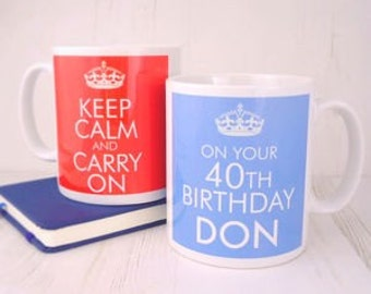 Keep Calm on Your Birthday Mug