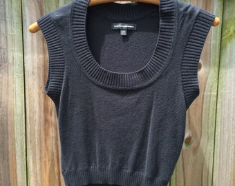Vintage 90s express SWEATER CROP TOP