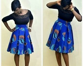 FLASH SALE - 20% OFF African print skirt, pleated midi skirt, pleated skirt, midi skirt, african skirt, african clothing, womens skirts, the