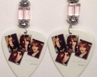 1 Pair- Beatles Guitar Pick Earrings