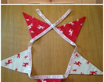Christmas bunting 5 flags, reindeer bunting, festive bunting, Christmas in July